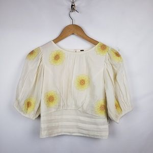 Free People Tops - Free People Peasant Boho Top Womens Sx XS Floral